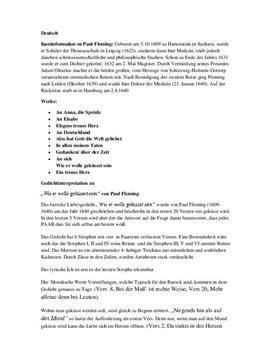 Gedichtinterpretation - Wie er wolle geküssed sein