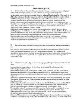 Referat - Myasthenia gravis und Pflanzengift Curare