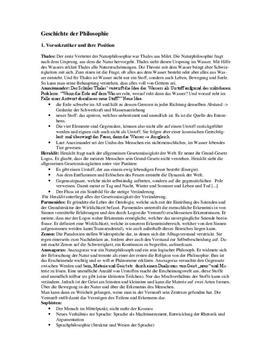 Referat - Geschichte der Philosophie