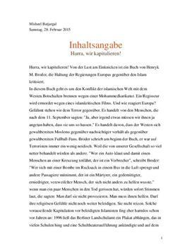 Inhaltsangabe - Hurra, wir kapitulieren! - Schulhilfe.de