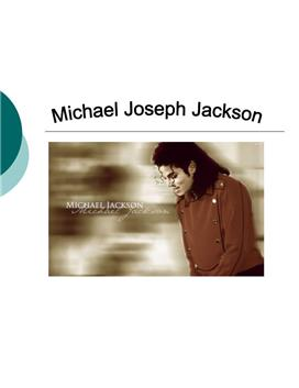 Michael Jackson Powerpoint / Referat