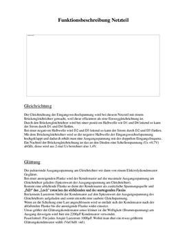 Referat - Netzteil mit Tranistorschaltungen