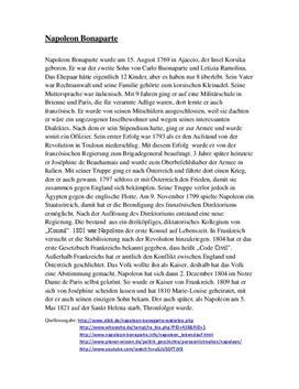 referat napoleon bonaparte - Napoleon Bonaparte Lebenslauf