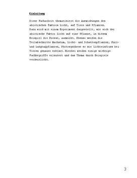 Facharbeit Wachstum Biologie - Schulhilfe.de
