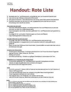 Referat - rote Liste