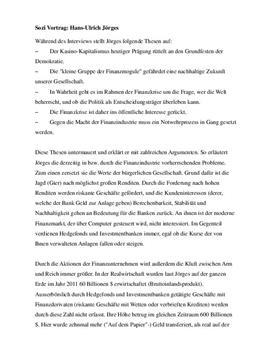 Interview mit Hans Ulrich Jörges
