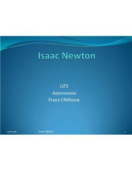 Isaac Newton - Referat