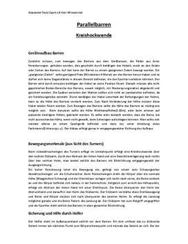 Parallelbarren Kreishockwende - Referat