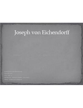 Joseph von Eichendorff - Referat