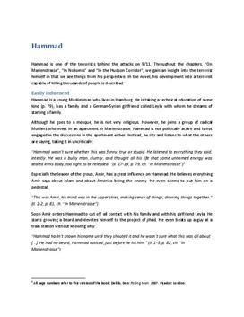 Falling Man Charakterisierung Hammad