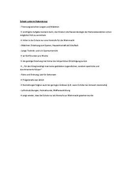 Erziehung und Erfassung in der NS Ideologie - Facharbeit