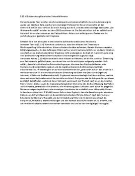Auswertung Sekundärquelle - Quellenanalyse