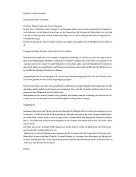 """""""Kritik der reinen Vernunft"""" Immanuel Kant"""