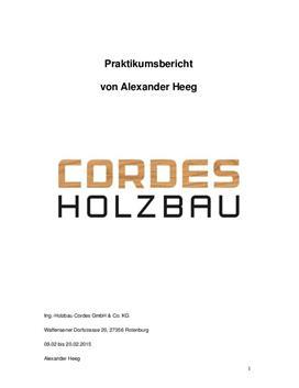 Praktikumsbericht - Holzbauingenieur