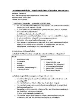 NS-Erziehung - Facharbeit