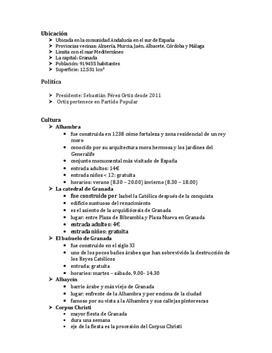 Referat über Granada