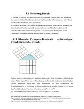 Beweis des Satzes von Pythagoras - Facharbeit