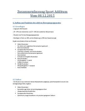 Sport Additum - Referat